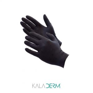 دستکش نیتریل 100 عددی مشکی میکروپیگمنتیشن پوست